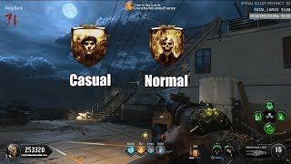 Why are Players on Casual and not Normal ? Black Ops 4 Zombies - Casual vs Normal - Normal Nerf