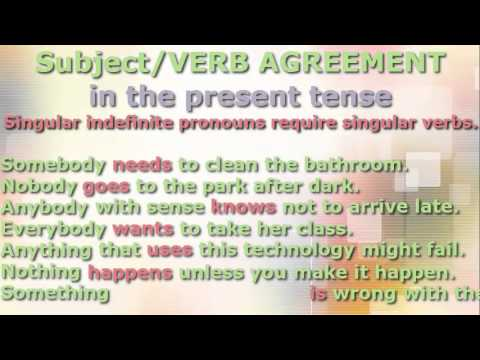 Subjectverb Agreement And Verb Tense Youtube