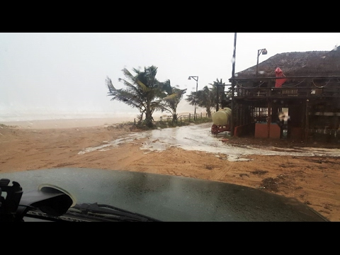 *** UPDATE *** Footage showing tropical storm Dineo's arrival in Mozambique