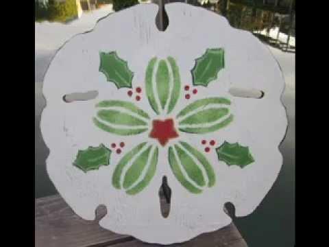 Sand dollar craft decorating ideas - YouTube