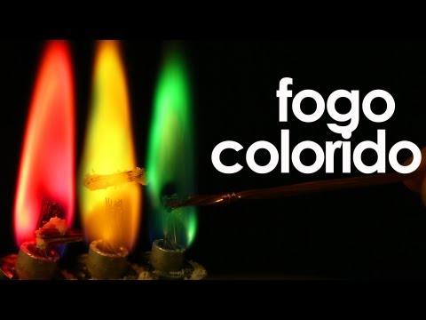 Como fazer fogo colorido (experimento de Química)
