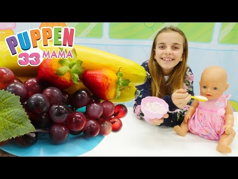 Puppen Mama - Ayça macht Fruchtjoghurt - Spielzeugvideo mit Puppen