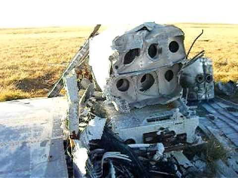 Paneo del avion Pucará caido en las Islas  Malvinas-Airplain crashed on Falklad's war.