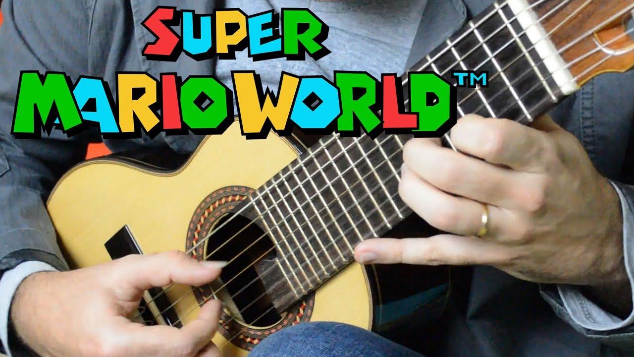Super Mario World (Overworld Theme) - Mini Guitar (Marcos Kaiser ...