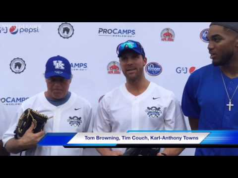 Tim Couch talks about his lack of softball experience