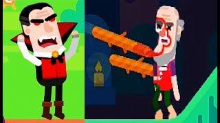 Bowmasters #9 Мультфильм Игра про ДУЭЛЬ ГЕРОЕВ Игровой мультик для детей #Мобильные игры