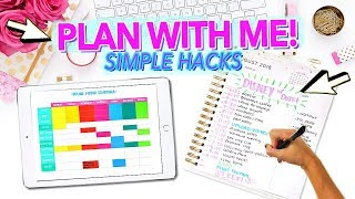 PLAN WITH ME! | Simple Planner Hacks to Improve Your Life!
