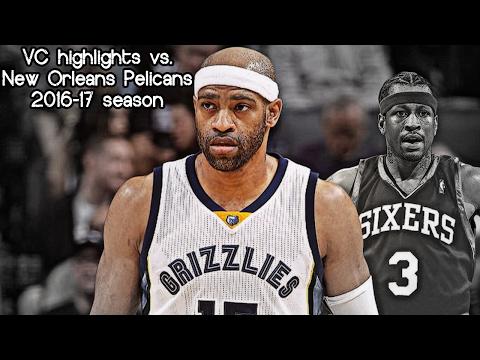 Vince Carter 5 pts, 3 reb & 2 ast vs. Pelicans (NBA RS 2016/2017) VC Passes AI On NBA Scoring List!