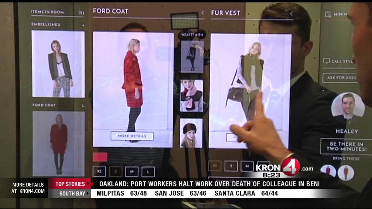 Tech Report High Tech Retail Store Uses Touch Screens To