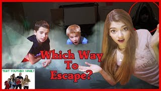 Escape the HACKERS Box Fort Exploring Secret Hidden Tunnels And Rooms / That YouTub3 Family
