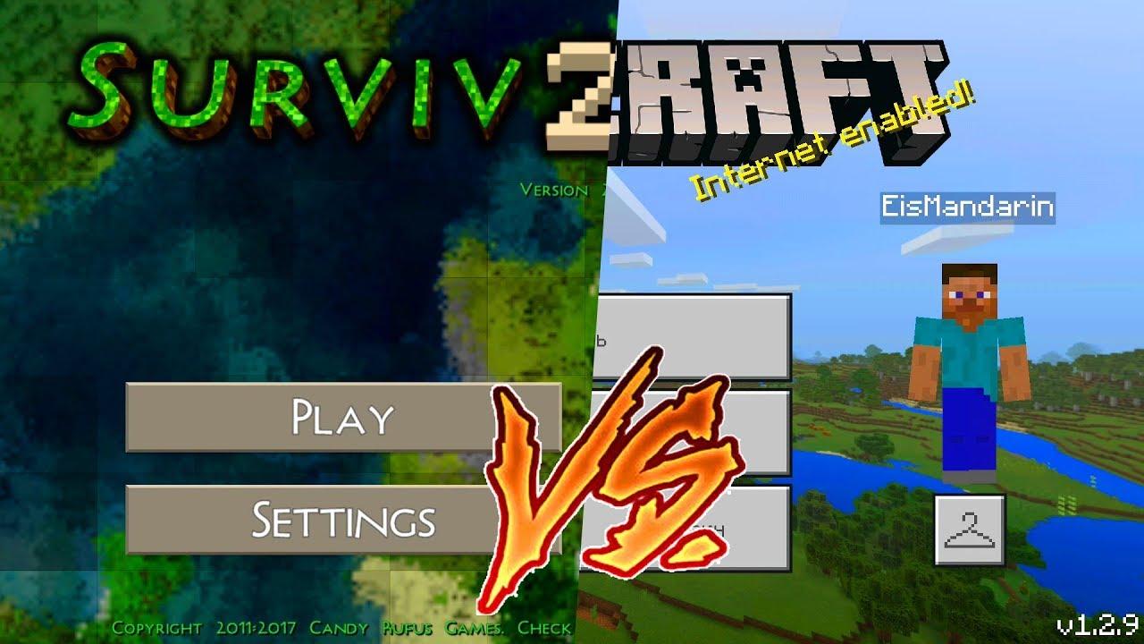 Minecraft Pocket Edition 1 2 9 vs Survivalcraft 2 1