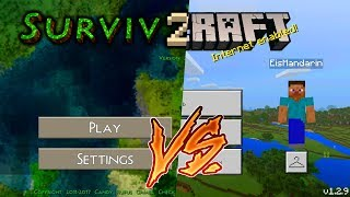 Minecraft Pocket Edition 1.2.9 vs Survivalcraft 2.1