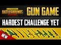 NEW GUN GAME! HARDEST CHALLENGE YET? PUBG MOBILE