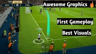 PES 19 Mobile Beta Gameplay ||Awesome Graphics 🔥 || France vs Germany ||