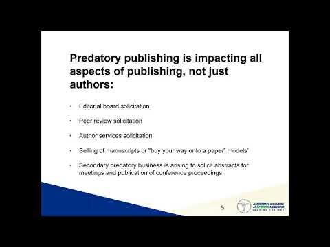 Predatory Publishing: How to Avoid Exploitative Journals