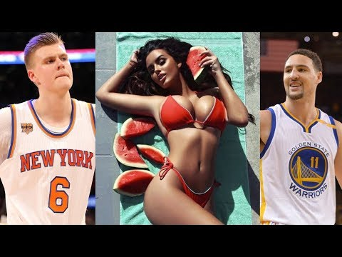 Klay Thompson Commits BOOTY BURGLARY on Kristaps Porzingis