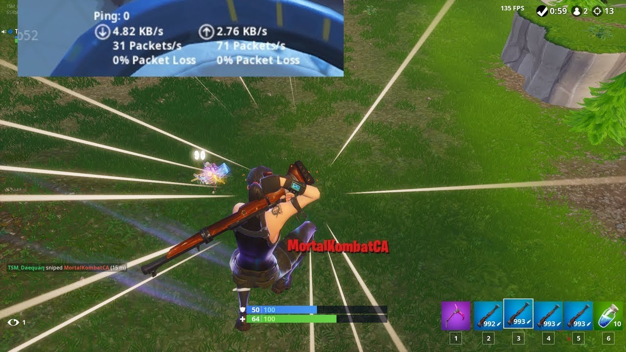 FORTNITE but with 0 ping