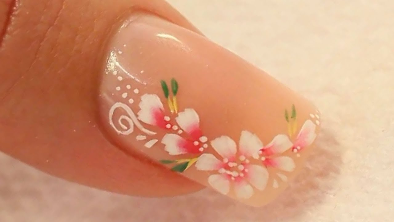 Nude Acrylic Nail Art Using Cover Pink Acrylics Tutorial - YouTube