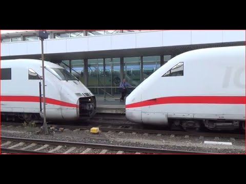 ICE Treffen im Hauptbahnhof Hannover -ICE meeting at Hannover main station