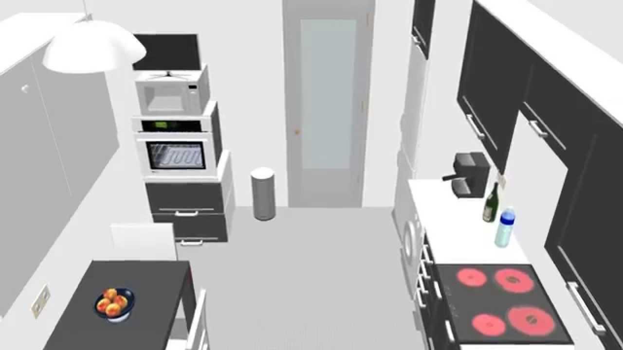 Dise o cocina plano de cocina 3d armariadas m dulos de for Como hacer un plano de una cocina