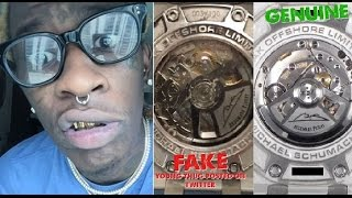 Young Thug Gets Called out for Having a FAKE WATCH. He Claims A Dubai Prince Gave it to Him.