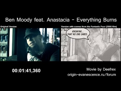 Ben Moody Feat. Anastacia - Everything Burns (Original Version Vs. Alternative Version)