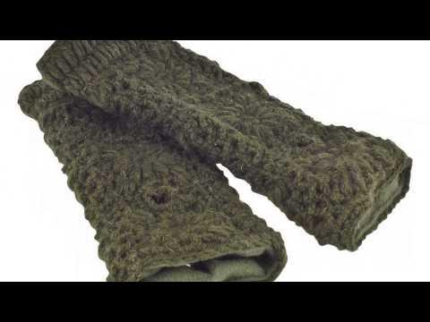 Netz Stulpen – Handgelenkwärmer aus Schurwolle, gefüttert