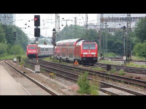 Zugverkehr  am  Heimeranplatz / S-Bahn Station  in München