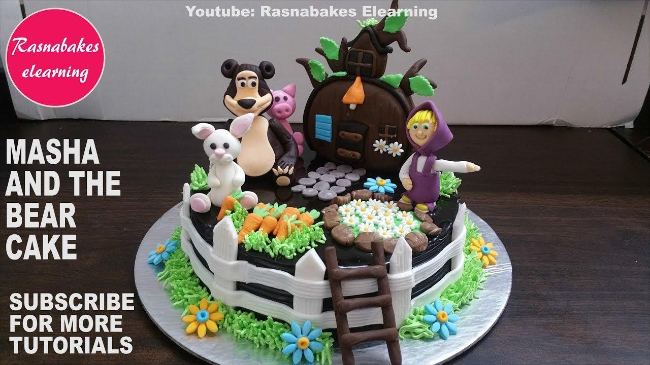 Masha And The Bear Cartoon Toys Games Birthday Cake Ideascake Decorating Classes