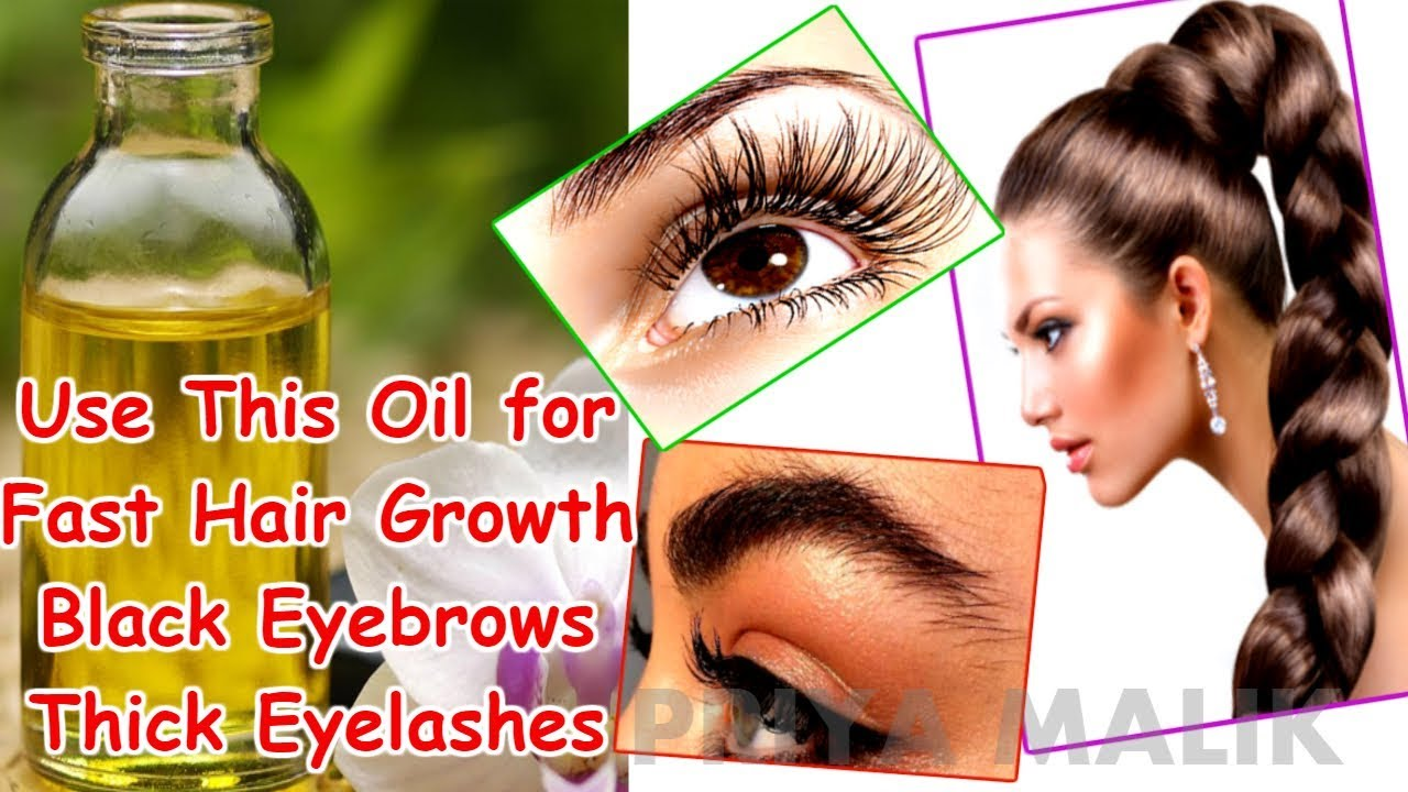 Use This Oil For Fast Hair Growth Black Thick Eyebrows And