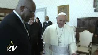Pope receives the Governor-General of Antigua and Barbuda