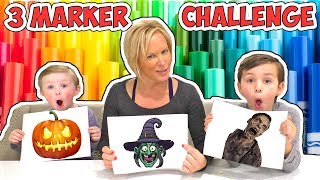 Halloween 3 Marker Challenge 4 - Zombies Witches and Jack-O-Lanterns!