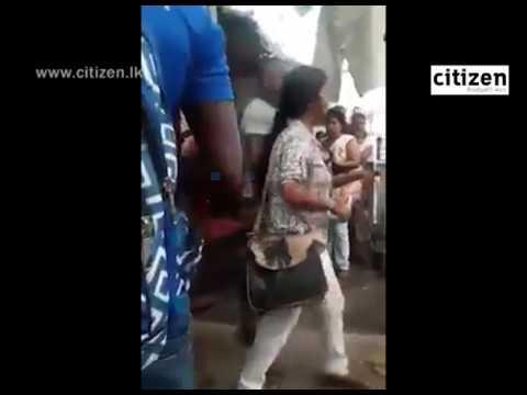 Women Fight In Maharagama