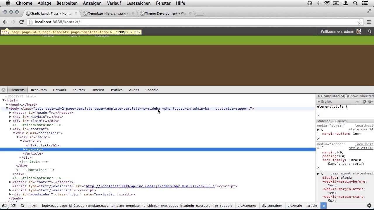 Seitenvorlagen (Page Templates) für WordPress erstellen - YouTube