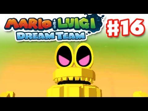 Mario & Luigi: Dream Team - Gameplay Walkthrough Part 16 - Robo-Drilldigger Boss (Nintendo 3DS)
