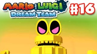 Mario & Luigi: Dream Team - Gameplay Walkthrough Part 16 - Robo-Drilldigger Boss (Nintendo 3DS)