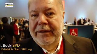 Kurt Beck beim außerordentlichen Parteitag der SPD am 21.01.18