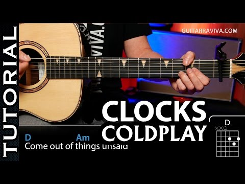 Cómo tocar CLOCKS de Coldplay en guitarra acústica tutorial y acordes  guitarraviva