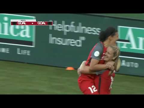 GOAL: Lindsey Horan scores Portland's second goal vs. Utah