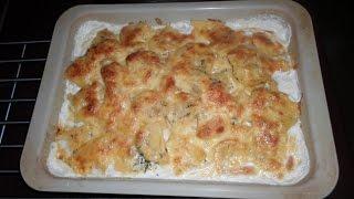 Запеченная тилапия с картофелем и сыром