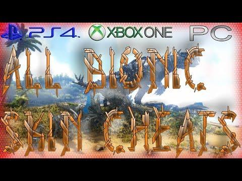 ARK PS4 XBOX PC - All Bionic Skins Cheat / Commands - Dino Kostüm