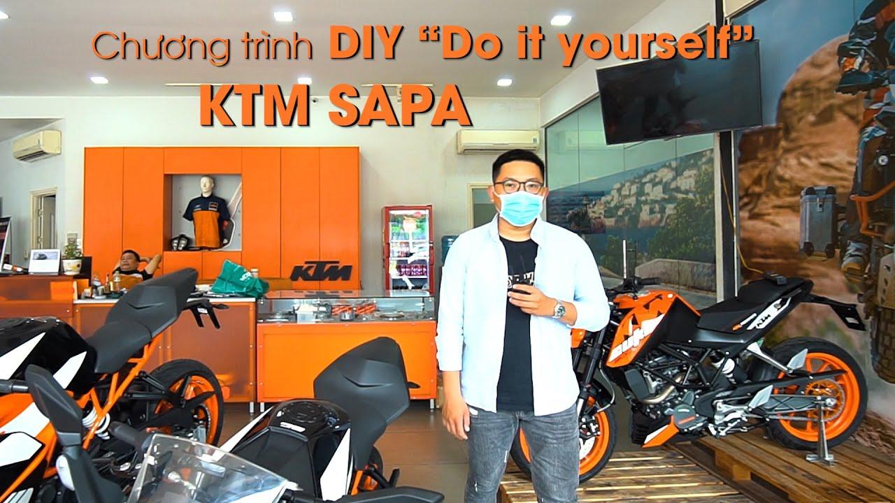 """Đem mô tô KTM tới đại lý bảo dưỡng, Chủ xe tự tay chăm sóc xe mình: DIY """"Do it yourself"""" at KTM SAPA"""