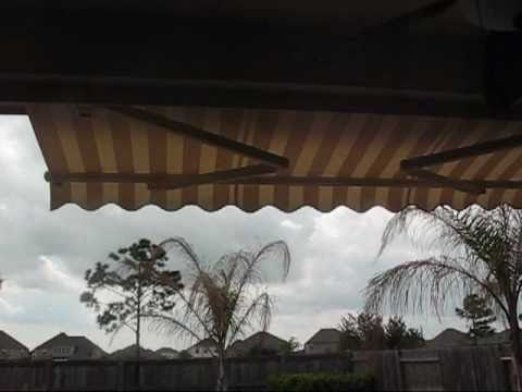 Motorized Retractable Patio Awning And Sun Shade Houston