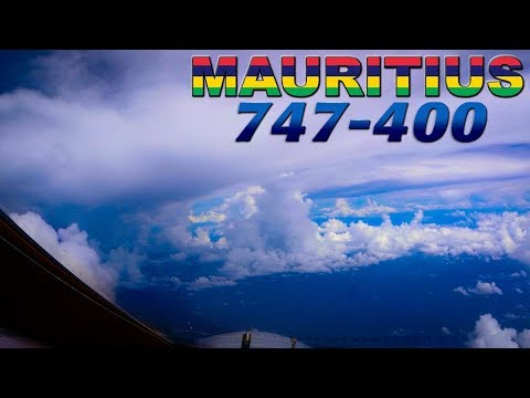 BOEING 747 avoiding bad weather out of MAURITIUS