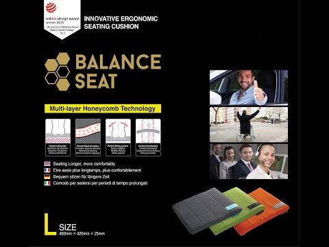 Balance seat - The painless innovative sitting cushion
