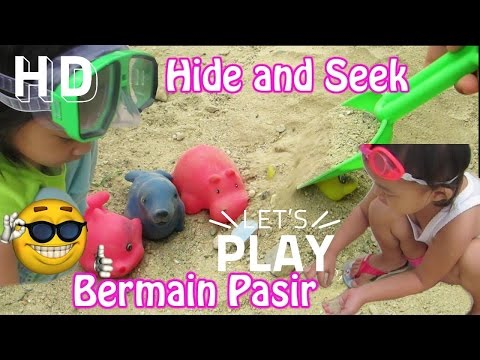 Main Pasir dan Air untuk Anak ❤ Hide and Seek Toys in the Sand