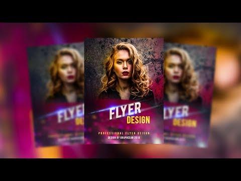 Easy Flyer Design Tutorial | Adobe Photoshop CC