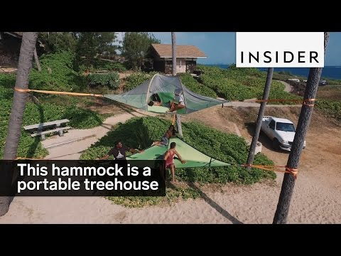 This hammock tent is basically a portable treehouse<a href='/yt-w/OMleZJhz0-4/this-hammock-tent-is-basically-a-portable-treehouse.html' target='_blank' title='Play' onclick='reloadPage();'>   <span class='button' style='color: #fff'> Watch Video</a></span>