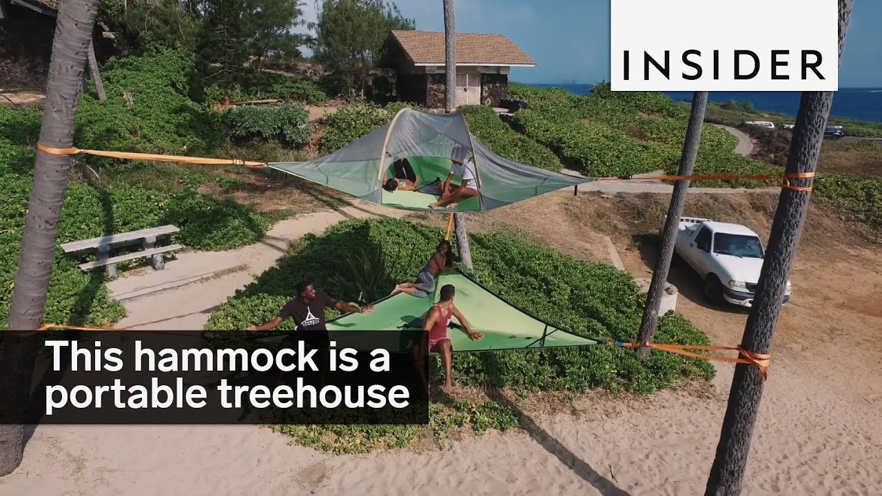 This hammock tent is basically a portable treehouse & This hammock tent is basically a portable treehouse - YouTube