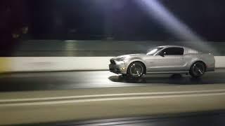 2013 Genesis on Garrett turbo vs 2014 FBO Mustang GT (Run 1 Gen Wins)